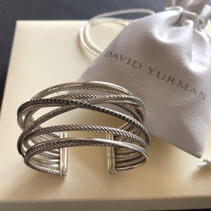 🌸David Yurman Stunning Diamond Crossover Bracelet
